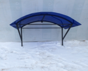Козырек для крыши металл с поликарбонатом  в Слониме.